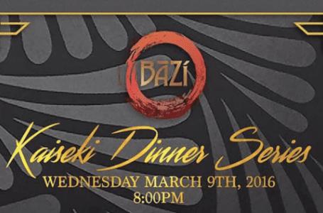 Bazi to Host Series of Intimate Kaiseki Dinners