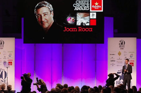 The popular chef achieved the Chefs' Choice award, sponsored by Estrella Damm, which ranks him as the world's best chef