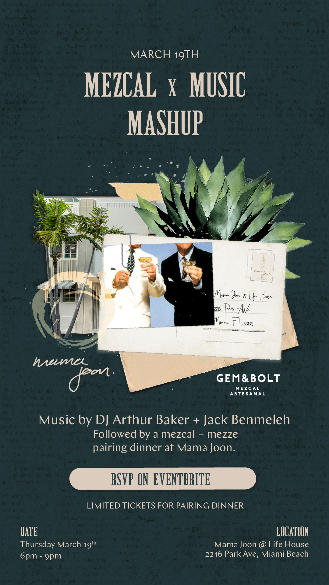 LIFE HOUSE, COLLINS PARK PRESENTS MEZCAL X MUSIC MASHUP ON MARCH 19
