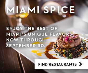 Miami Spice Restaurant Months runs from June 1 - September 30, 2020.