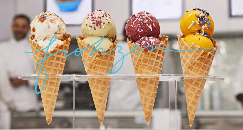 Frohzen is an innovative ice cream shop located at Paradise Plaza in the Miami Design District.