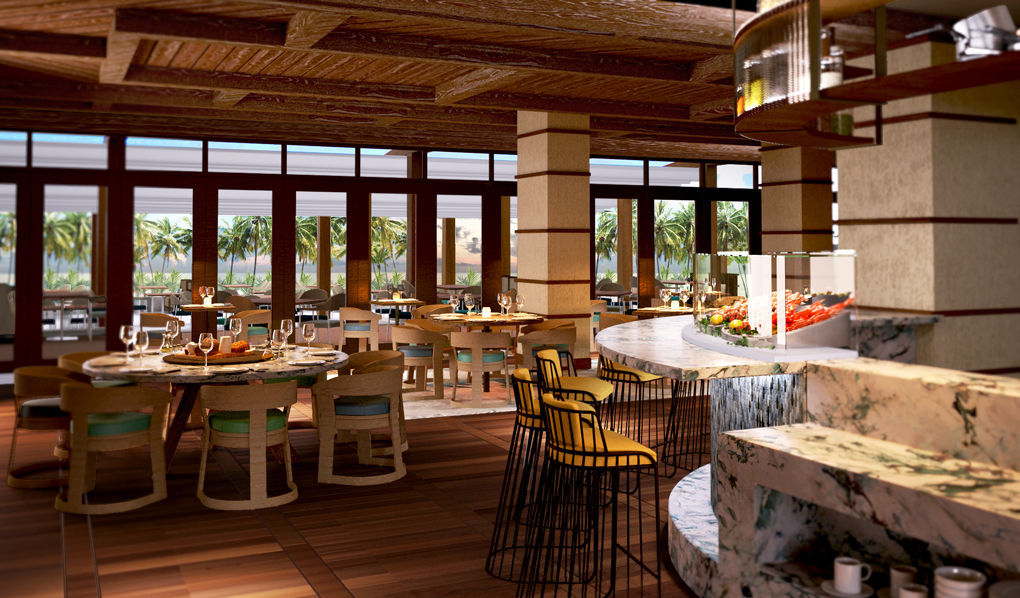 Overlooking the beach, this polished eatery offers freshly caught seafood, meats & craft cocktails.