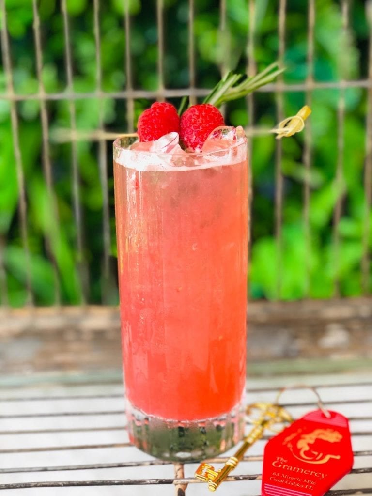 The Gramercy's Ginger Raspberry Lemonade $10