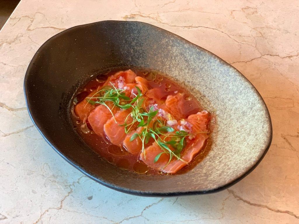 Sala'o Brunch Crudito de Salmon