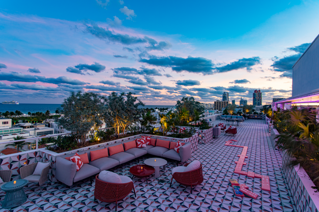 Moxy Rooftop Sitting Area