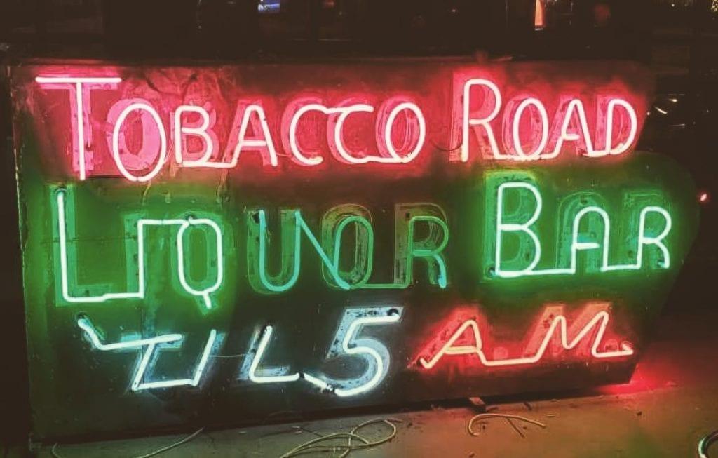 Tobacco Road Neon Sign