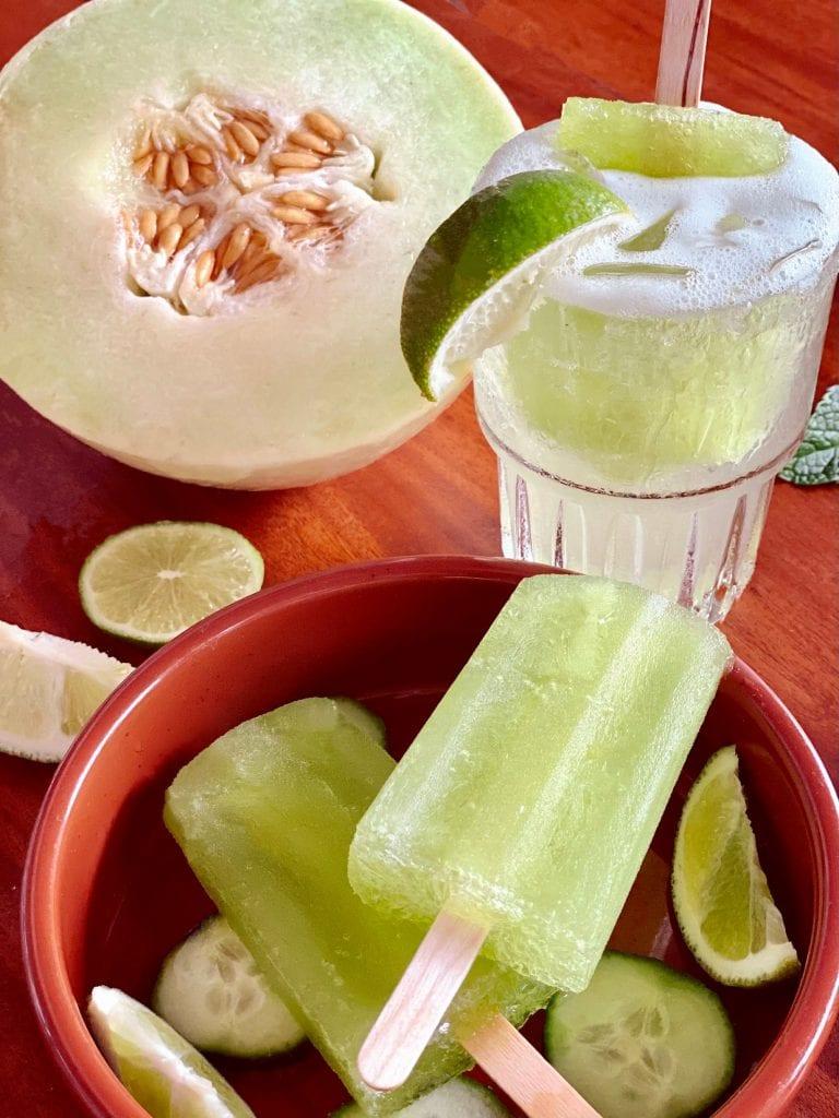Nikki Beach Honeydew Melon Margarita Poptail