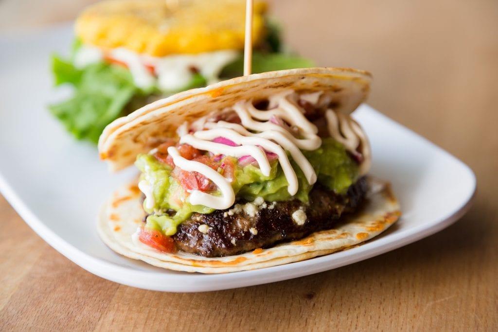 Pincho Quesadilla Burger