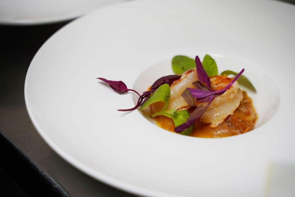 SOBEWFF 2021 Continuum Event Sicilian Shrimp with Mango & Potato Chutney