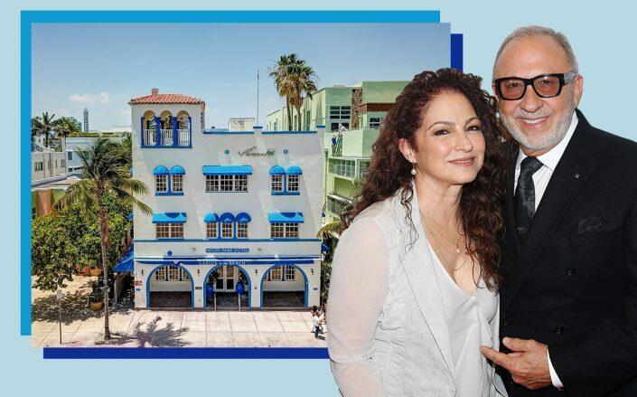 Shore Park building with Gloria and Emilio Estefan