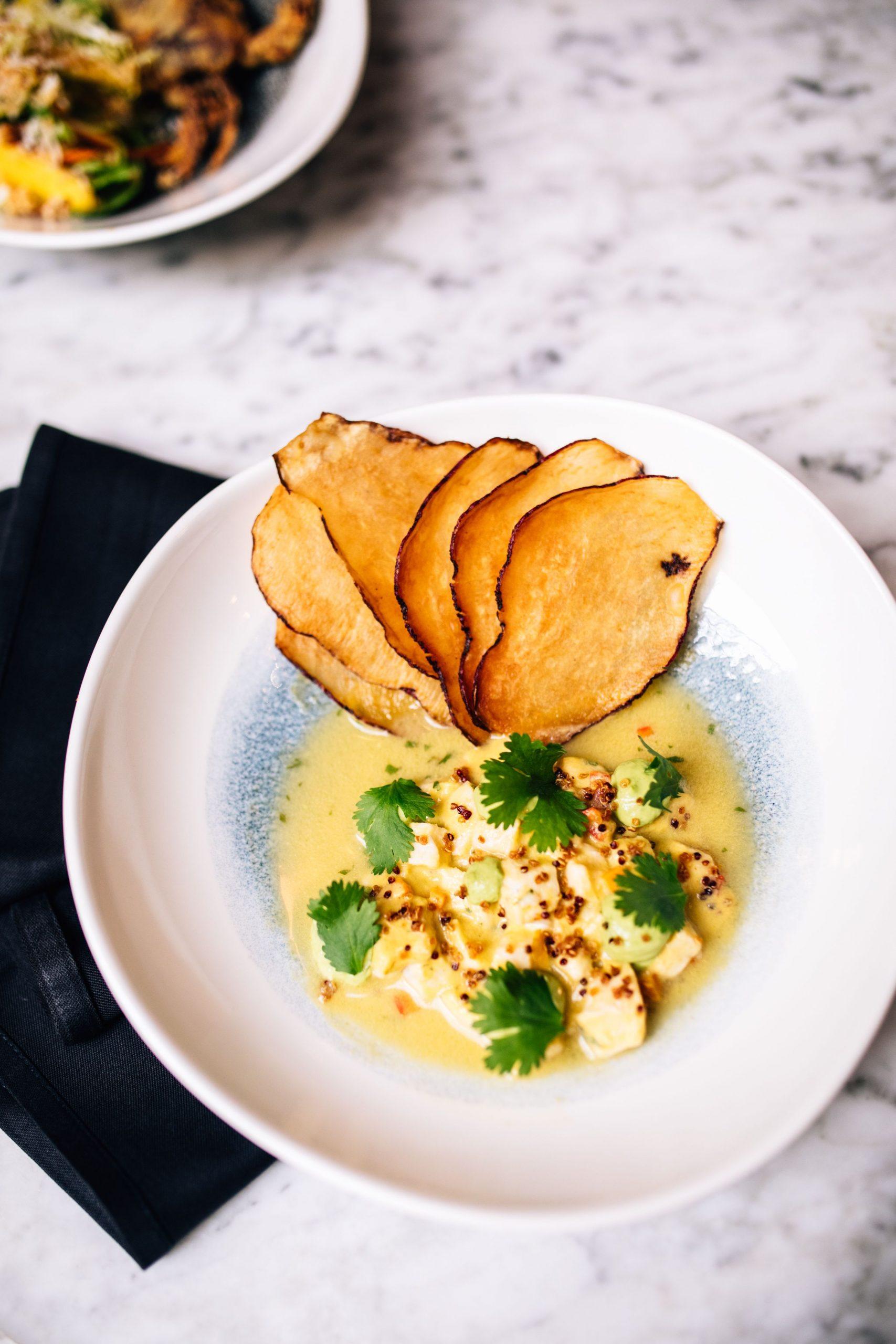 Corvina Ceviche , Rocoto Leche de Tigre and Boniato Chips Recipe – Executive Chef Jean Delgado