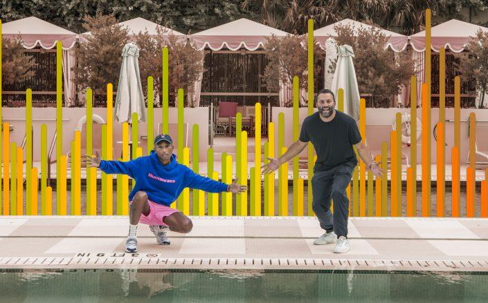 David Grutman and Pharrell's Goodtime Hotel had received nearly 30 noise violations (Photo Illustration by The Real Deal)