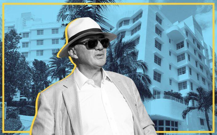 JHSF founder Fábio Auriemo with Como Metropolitan Miami Beach hotel (Susan Gale Group / One Sotheby's International Realty) via www.therealdeal.com