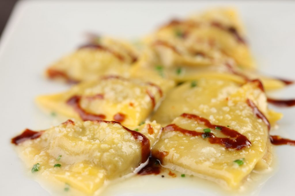 Scarpetta Duck and Foie Gras Ravioli - Miami Spice