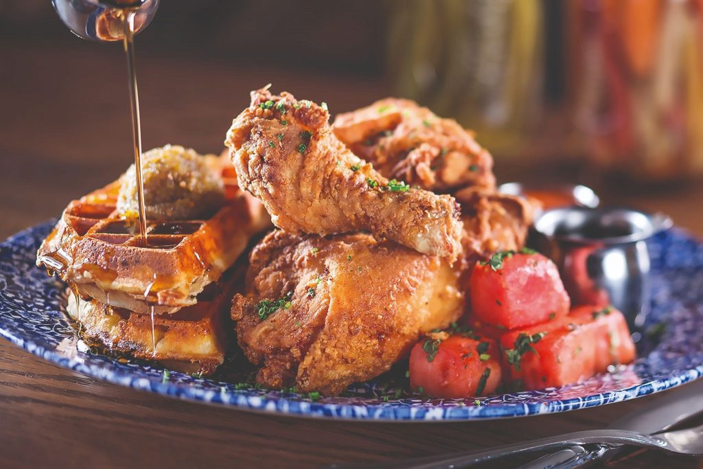 Yardbird Southern Table & Bar Chicken Watermellon & Waffles